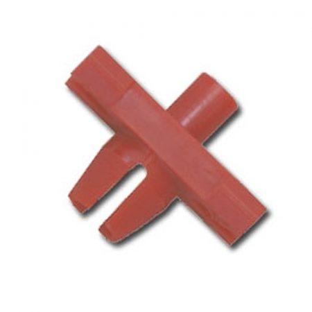 Küszöbdíszléc rögzítő patent 9,2x18x6,3x6,2 piros, 25 db/csomag Volkswagen Seat Audi Skoda
