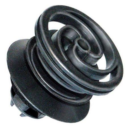 Ajtókárpit rögzítő patent 21,7x9,7x11 fekete, 10 db/csomag Volkswagen Seat Audi Skoda