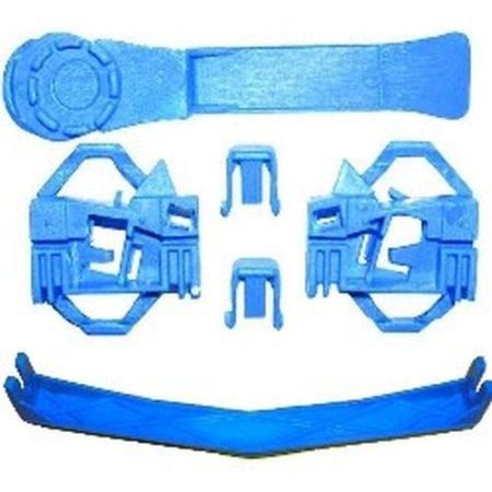 Első-hátsó ajtóüveg rögzítő patent készlet balos 6db/cs kék Volkswagen Seat Audi Skoda