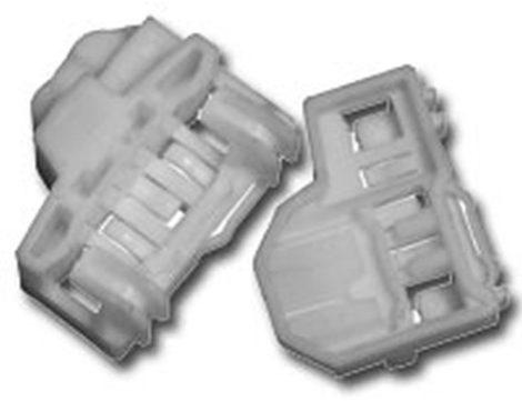 Első ajtóüveg rögzítő patent készlet jobbos 2db/cs fehér Volkswagen Seat Audi Skoda