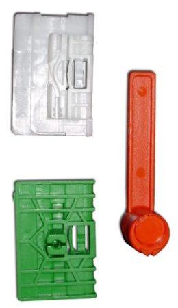 Első ajtóüveg rögzítő patent készlet balos+jobbos 3db/cs fehér-zöld-piros '00->'05 Volkswagen Seat Audi Skoda