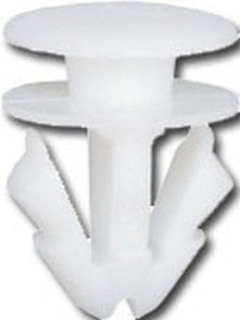 Oldaldíszléc rögzítő patent 11,8x9x11,2 fehér, 25 db/csomag Volkswagen Seat Audi Skoda