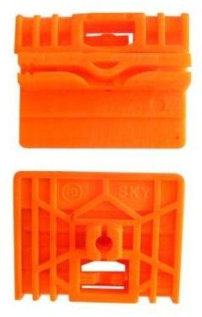 Első ajtóüveg rögzítő patent balos+jobbos 2db/cs narancssárga Volkswagen Seat Audi Skoda