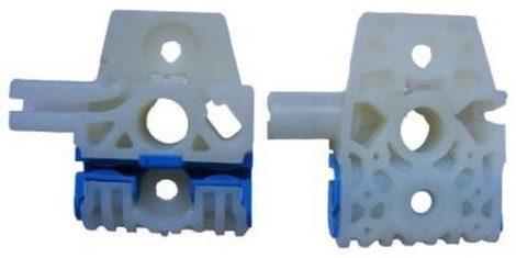 Első ajtóüveg rögzítő patent balos+jobbos natúr-kék 2db/cs Volkswagen Seat Audi Skoda
