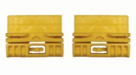 Első ajtóüveg rögzítő patent balos+jobbos 2db/cs sárga Volkswagen Seat Audi Skoda