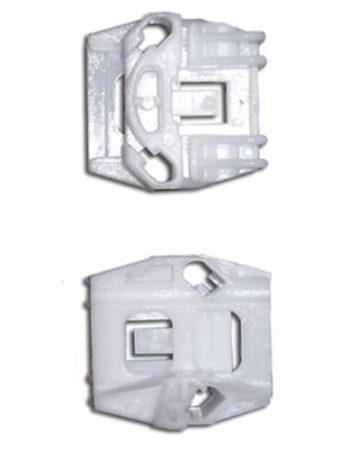 Első ajtóüveg rögzítő patent készlet balos+jobbos 2db/cs fehér Volkswagen Seat Audi Skoda