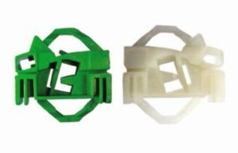 Első ajtóüveg rögzítő patent készlet balos 2db/cs fehér-zöld Volkswagen Seat Audi Skoda