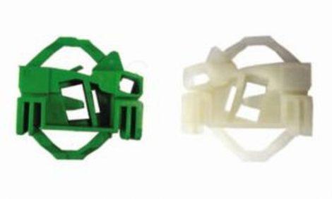 Első ajtóüveg rögzítő patent készlet jobbos 2db/cs fehér-zöld Volkswagen Seat Audi Skoda