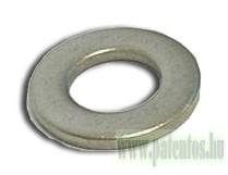 Lapos alátét, acél, horganyzott, 10 db/csomag, 140 HV, DIN125A, ISO7089