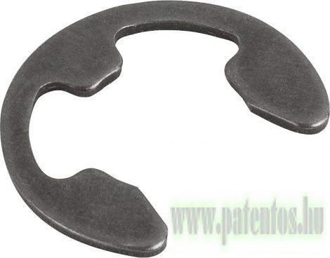Biztosító lemez tengelyre, acél, 460-580 HV, natúr (fekete), DIN 6799, NCN809, 10 db/csomag