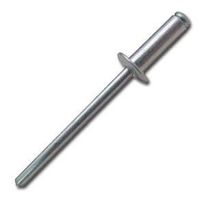 Félgömbfejű, horganyzott, acél húzószegecs, DIN7337, 4,0x10 mm, 50 db/csomag