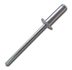 Félgömbfejű, horganyzott, acél húzószegecs, DIN7337, 6,0x15 mm, 50 db/csomag