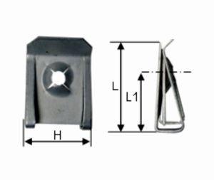 Horganyzott lemezanya /galvanizált, 4,8 mm, 50 db/csomag