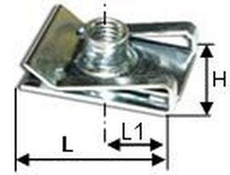 Horganyzott metrikus lemezanya M5x15,5x12, 10 db/csomag Ford renault Mercedes Benz Univerzális