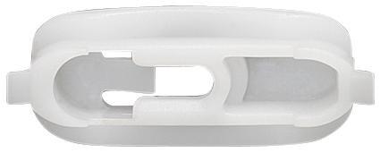 Díszléc rögzítő patent, fehér, 10 db/csomag, Audi