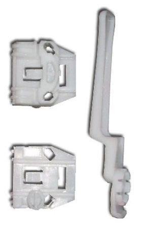 Első ajtóüveg rögzítő patent készlet balos+jobbos 3db/cs fehér Volkswagen Seat Audi Skoda