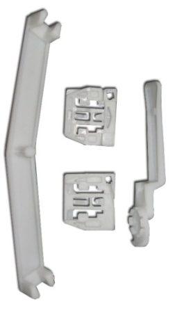 Első ajtóüveg rögzítő patent készlet balos+jobbos 4db/cs fehér Volkswagen Seat Audi Skoda