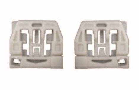 Első+hátsó ajtóüveg rögzítő patent balos+jobbos 2db/cs fehér Volkswagen Seat Audi Skoda